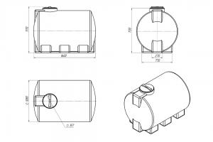 Емкость ЭВГ-1000 литров