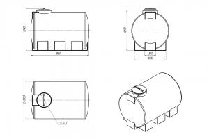 Емкость ЭВГ-2000 литров