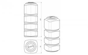Емкость L-1000 литров