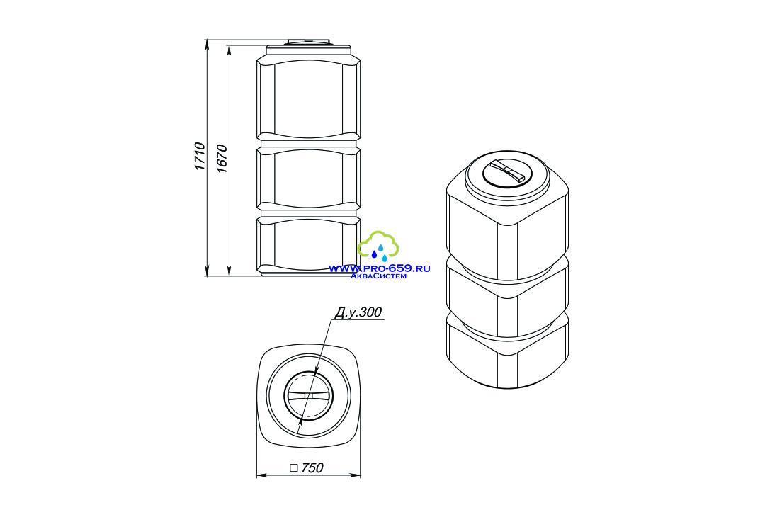 Емкость L-750 литров