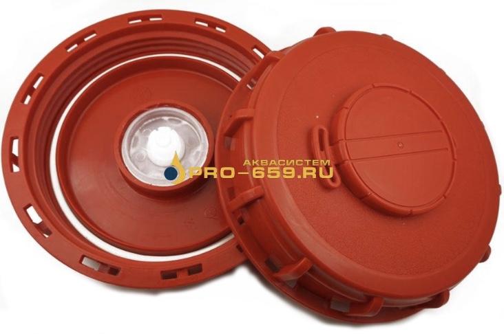 Крышка 160 мм верхняя для еврокуба (c клапаном)
