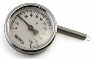 Термометр накладной с пружиной