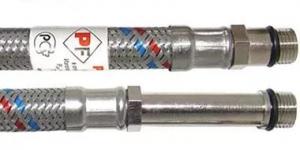 """Подводка гибкая с полимерным покрытием для смесителей 1/2""""* М10 (пара)"""