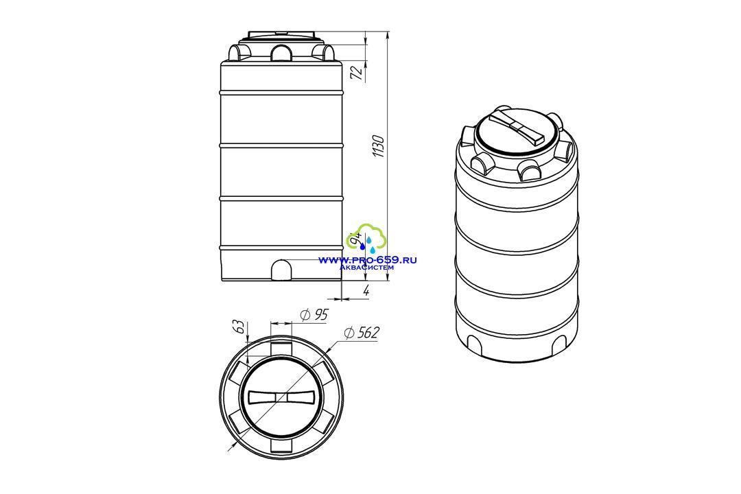 Емкость ЭВЛ-Т 200 литров