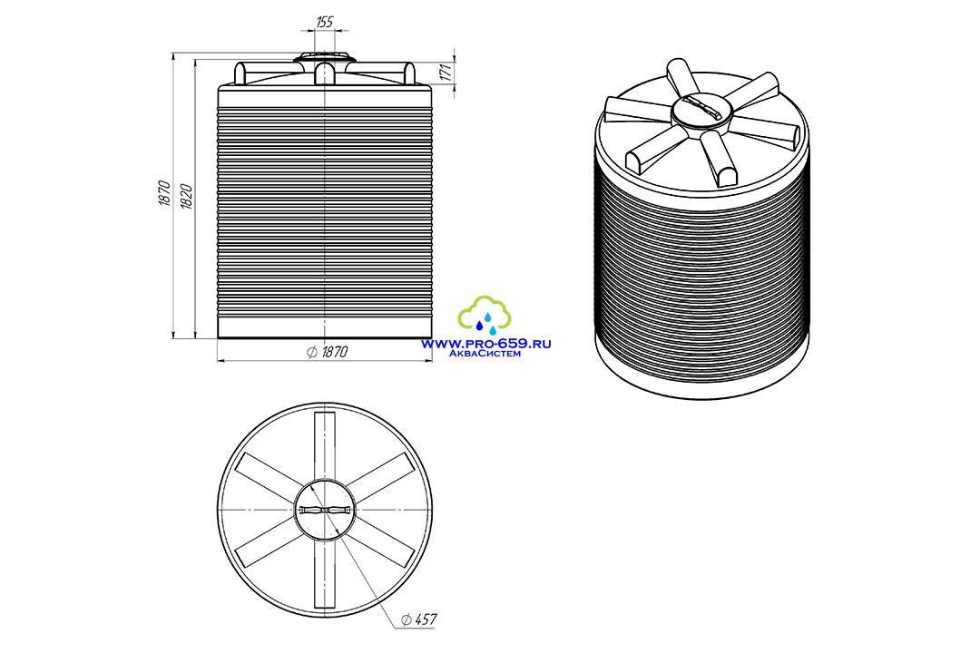 Емкость ЭВЛ- 4500 литров