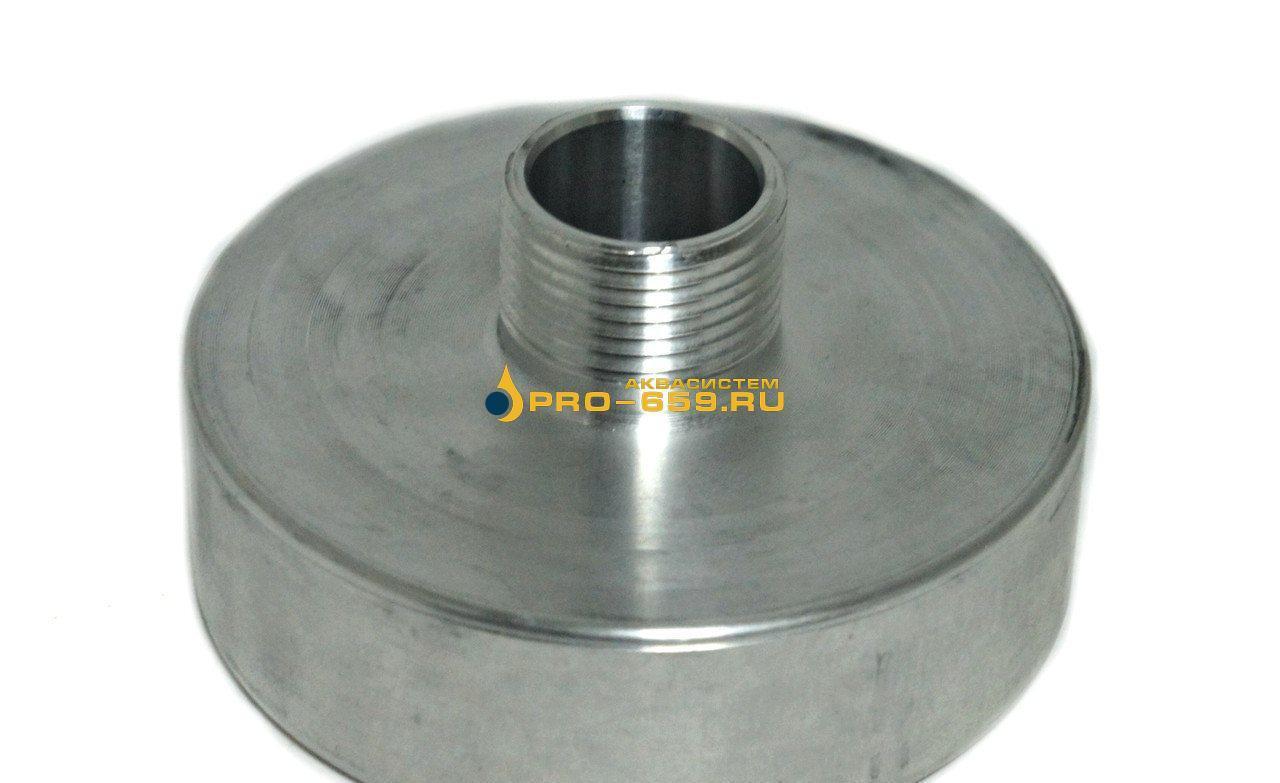 Переходник для еврокуба со 100 мм на наружную резьбу  (алюминиевый)
