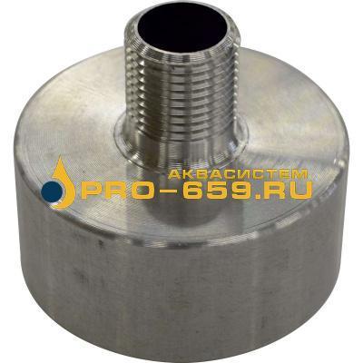 Переходник с 60 мм (крупная резьба) на наружную резьбу 1/2 дюйма (алюминиевый)