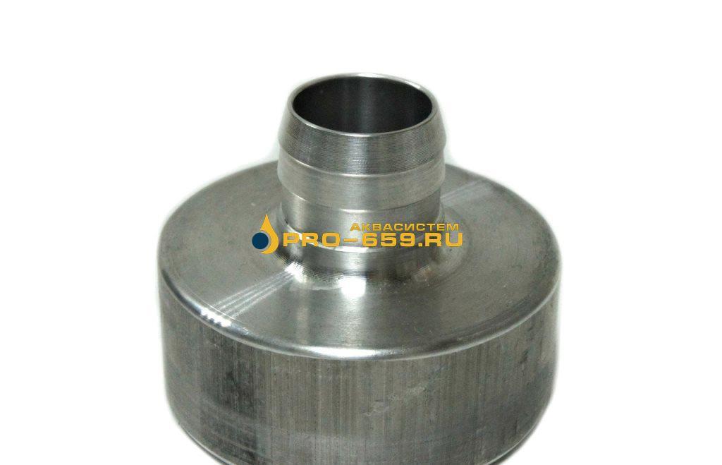 Переходник с 62 мм (крупная резьба) на штуцер 25 мм (1 дюйм) (алюминиевый)